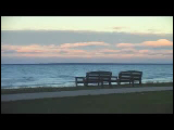 Video Clip - Two benches beside each other facing the sea