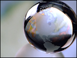Video Clip - Metallic shiny globe spinning