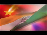 Video Clip - China and India flags in the same frame
