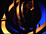 Video Clip - Shiny gold globe spinning