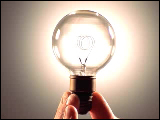 Video Clip - Light bulb lit up in hand