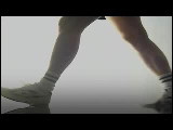 Video Clip - A pair of legs walking with a heart rate monitor shown at the bottom