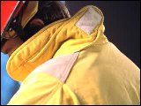 Video Clip - A fire fighter looking down