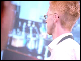 Video Clip - A man working in a lab turns around and looks into the camera