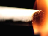 Video Clip - A cigarette being lit up