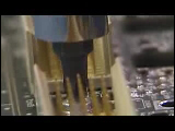 Video Clip - Electronic component, assembly line, integrated circuits, motherboard