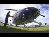 Video Clip - Helicopter taking off and looking over the city